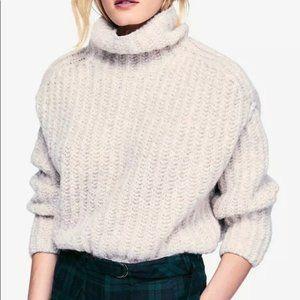 Free People Fluffy Fox Turtleneck Sweater Wool